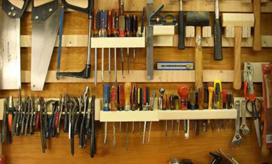 برای کارگاه های کوچک قرار دادن قفسه نگهداری وسایل نجاری لازم است